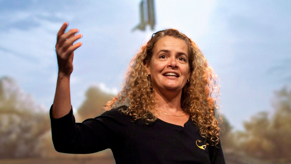 Julie Payette, astronaut and Governor General, is inspiring students (THE CANADIAN PRESS / Paul Chiasson)
