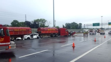 crash, QEW, Mississauga