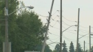 Careless driving blamed as SUV hits hydro pole