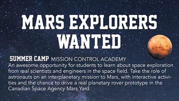 Summer space camp at Ashbury College