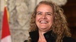 Former astronaut, and Governor General designate, Julie Payette, smiles on Parliament Hill, in Ottawa, after she was introduced on Thursday July 13, 2017. (Fred Chartrand / THE CANADIAN PRESS)