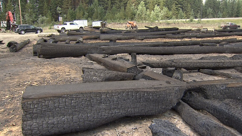One of three lots owned by a business featured on 'Timber Kings,' located in 150 Mile House, was destroyed.