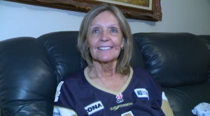 Winnipeg resident Karen Kuldys narrowly lost out on a $1 million prize during a CFL game.