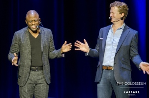 Wayne Brady and Jonathan Mangum perform at Caesars Windsor on Thursday, July 14, 2017. (Courtesy Caesars Windsor)