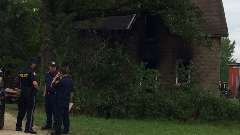 Investigators are probing a fire that claimed the life of a young boy in Stayner, Ont. on Friday, July 14, 2017. (Rob Cooper/ CTV Barrie)