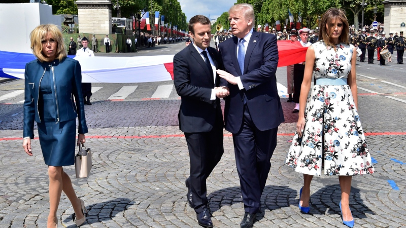 Macron hopes charm offensive will sway Trump to accept climate accord