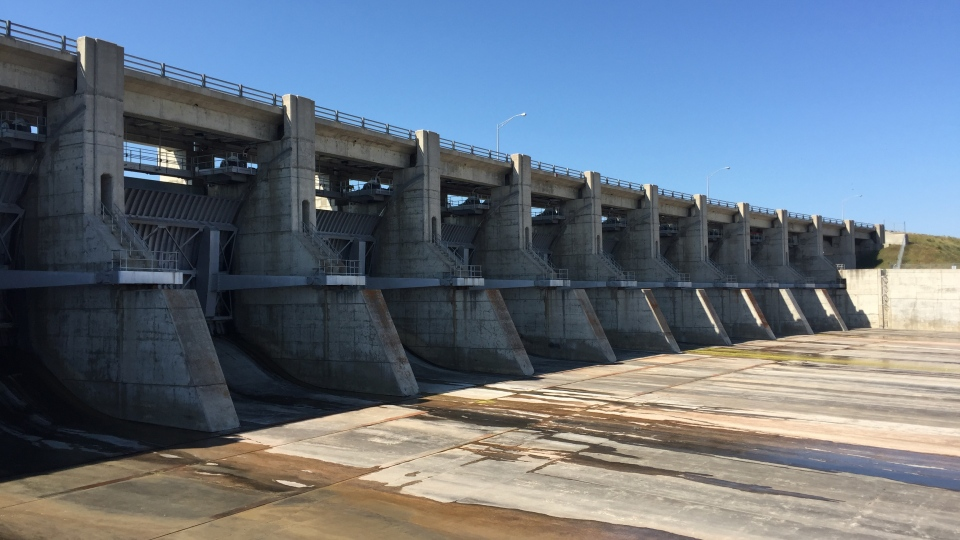 The spillway of the Gardiner Dam in Saskatchewan sits closed in this photo from Friday, July 14, 2017. July 2017 marks 50 years for the dam. (Mark Villani/CTV Saskatoon)