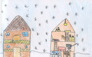Weather art by Cayla, age 10, from Nelson Elementary School.