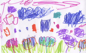 Weather art by Sana, age 4.