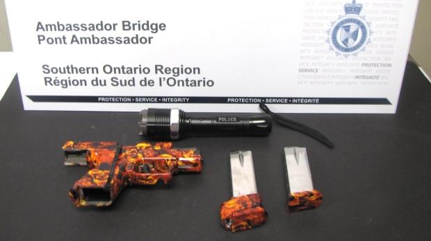 Weapons seized at Ambassador Bridge