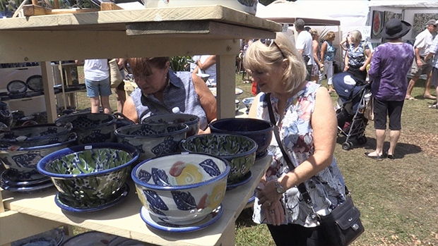 The Muskoka Arts and Craft show has been taking place for 55 years, seen here on July 15, 2017