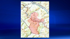 Verdant Creek wildfire map