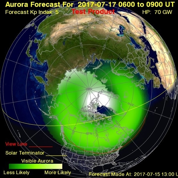 NOAA aurora forecast