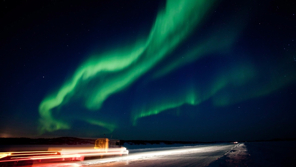A brilliant show of the Aurora Borealis near Yellowknife, N.W.T. is shown in the night sky on Thursday March 8, 2012. (Bill Braden/The Canadian Press)