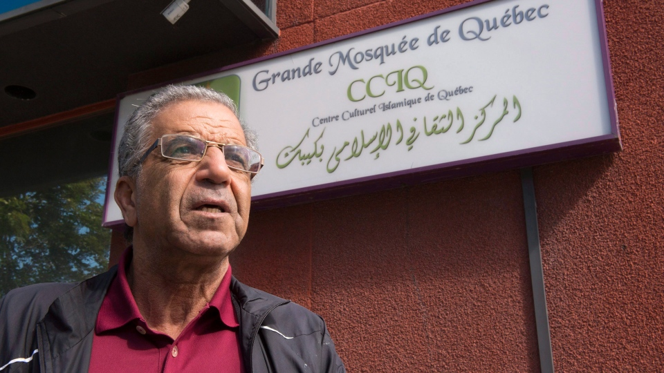 Mohamed Kesri during an interview at the Centre Culturel Islamique de Quebec Wednesday, July 12, 2017 in Quebec City. (Jacques Boissinot / THE CANADIAN PRESS)