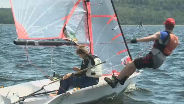 Youth at the East Coast Regatta took advantage of the practice time for the Canada Summer Games.