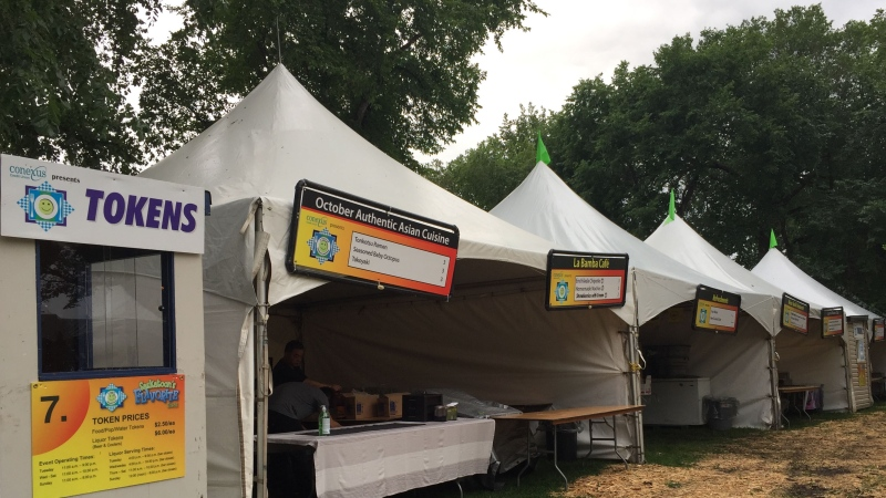 Thirty restaurants set up for Taste of Saskatchewan. (Janella Hamilton/CTV Saskatoon)