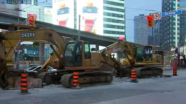 Ongoing construction work is shutting down a busy section of Dundas Street in the downtown core for the rest of the summer.
