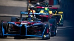 At the Formula E New York City ePrix all-electric auto race in Brooklyn, on July 16, 2017. (Michael Noble Jr. / AP)