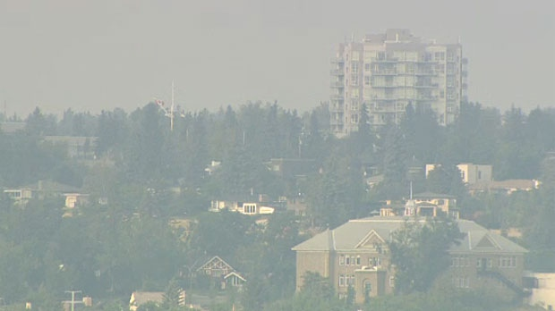 Air quality wavers in Edmonton area as BC fires rage on