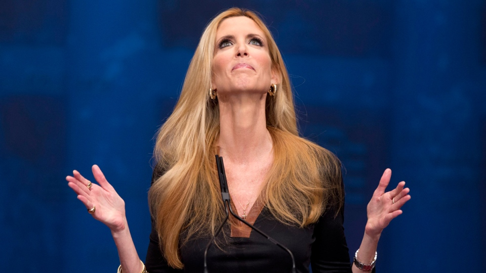 Ann Coulter at the Conservative Political Action Conference (CPAC) in Washington, on Feb. 10, 2012. (J. Scott Applewhite / AP)