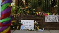 A memorial to an Australian woman in Minneapolis