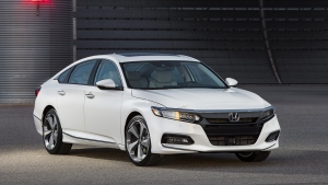 The 2018 Honda Accord is shown in this handout photo. (Honda / AFP)