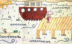 Weather art by Yolanda, age 10, from Nelson Elementary.