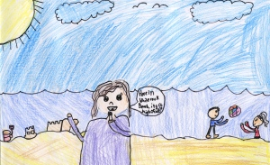 Weather art by Kristina, age 10, from Nelson Elementary.