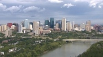 Downtown Edmonton is seen before noon on Tuesday, July 18, 2017.