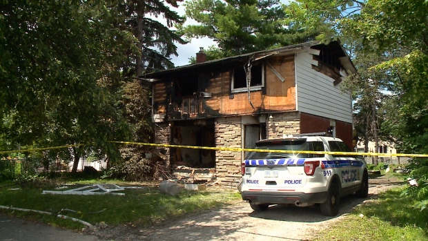 The aftermath of the fire at 1077 Dynes Road.