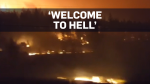 Cell phone footage shows 'hell' off B.C. highway