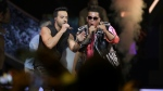 Singers Luis Fonsi, left and Daddy Yankee perform during the Latin Billboard Awards in Coral Gables, Fla. on April 27, 2017. (AP / Lynne Sladky)