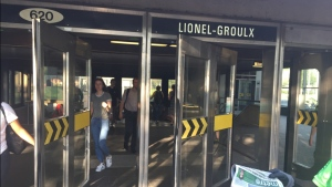 Passengers leave Lionel Groulx metro station on July 19, 2017 (CTV Montreal/JL Boulch)