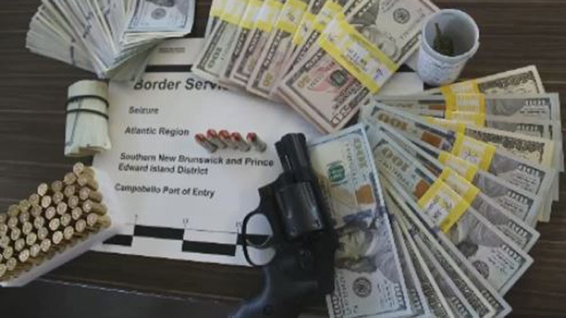 A New Hampshire man recently failed to declare a handgun and ammunition at the Campobello border crossing. (Canada Border Services Agency)
