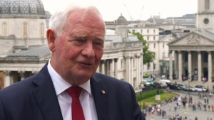 Gov. Gen. David Johnston speaks with CTV News in London on Wednesday, July 19, 2017.