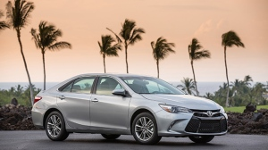 This photo provided by Toyota shows the 2017 Camry midsize sedan which is scheduled to be replaced with an all-new model in early August 2017.  (David Dewhurst Photography/Courtesy of Toyota Motor Sales, U.S.A., Inc. via AP)