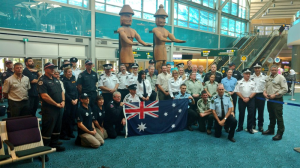 Fifty experts from Australia arrive at YVR to help with the wildfire battle in British Columbia's central and southern Interior. (Ben Miljure)