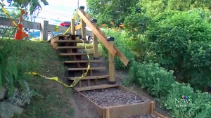 An Etobicoke man took matters into his own hands after the City of Toronto estimated the cost of a staircase to a local park at more than $100K.