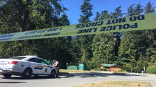 The Integrated Homicide Investigation Team was called in after a suspicious death at Burnaby's Central Park on July 19, 2017. (CTV)