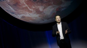 In this Sept. 27, 2016 file photo, SpaceX founder Elon Musk speaks during the 67th International Astronautical Congress in Guadalajara, Mexico. (AP Photo/Refugio Ruiz, File)