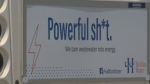 "One of Halifax Water's campaign signs reads, ""Powerful sh*t. We turn wastewater into energy."""