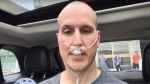 """Dr. Anthony Crocco is seen during McMaster Children's Hospital's """"Hot Car Challenge."""" (CTV Toronto)"""