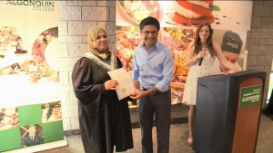 Syria refugees graduate from Algonquin College