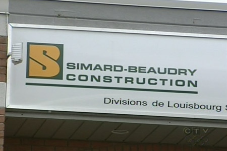 The sign of one of the businessess owned by Antonio Accurso. The RCMP investigation is ongoing. (Apr. 8, 2009)