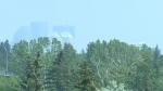 Wildfire smoke over Calgary