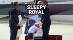 Prince George looks sleepy during royal tour