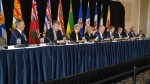 Canadian Premiers at a press conference