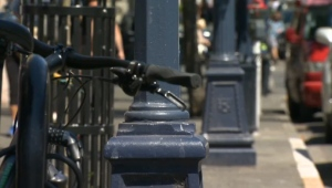 The city says it's time downtown Victoria's mismatched colour scheme becomes unified with a coat of gloss black. July 19, 2017. (CTV Vancouver Island)