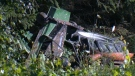 A 75-year-old Kitchener man died after a tractor with a lawn mower attachment flipped and pinned him to the ground on July 19, 2017 (CTV Kitchener)